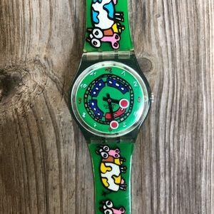 RARE Crazy Train Cow Swatch Watch